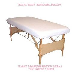 1 new massage table fitted sheet large muslin t130 36''x84''