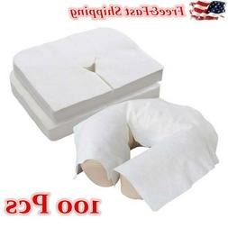 100 Sheets Disposable Massage Table Head Rest Cushion Covers