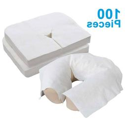 100Pcs Disposable Fitted Massage Table Head Rest Headrest Co