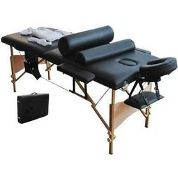 "2 Fold 84"" Portable Massage Table Facial SPA Bed W/sheet Set"