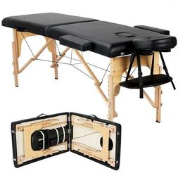 2-Fold Massage Table Adjustable Facial SPA Salon Bed Tattoo