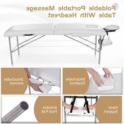 2-Fold Portable Massage Table Chair Bed Spa Facial w/Free Ca