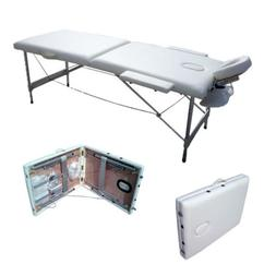 2 Fold Portable Massage Table Facial SPA Bed Tattoo w/Carry