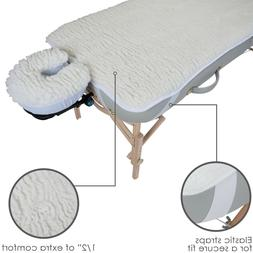 2 Pc Massage Table Woolly Fleece Pad Set Fitted Sheet Face C