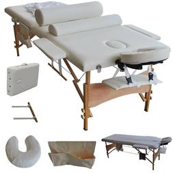 2 Sections Folding Portable SPA Bodybuilding Massage Table S