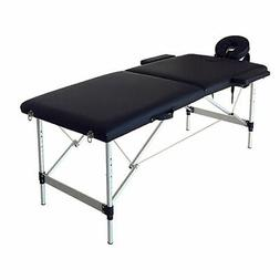 2 Sections Folding Portable SPA Bodybuilding Massage Table B