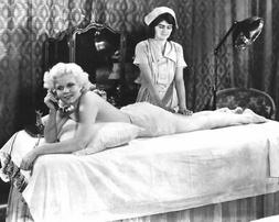 236657 Jean Harlow graphic lying on table having massage WAL