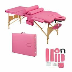 "27.6""W Portable Massage SPA Bed Table Adjustable Headrest 3s"