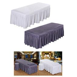2x Breathable Pro Massage Beauty Salon Table Skirt with Hole