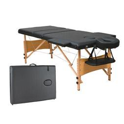 "3 Fold 84""L Portable Massage Table Facial Bed W/2 Bolster+Sh"