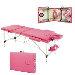 3 Fold Aluminum Massage Table Facial SPA Tattoo Bed Health B