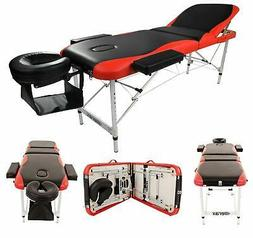 3 Fold Massage Table Facial SPA Bed Tattoo w/Carry Case Alum