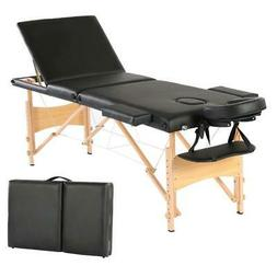 3 Fold Massage Table w/Free Carry Case Bed Spa Facial Table