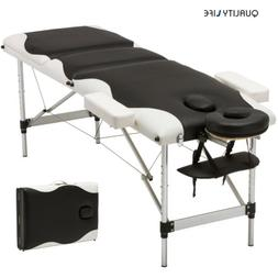 3 Fold Portable Aluminum Massage Table Facial SPA/Tattoo Bed
