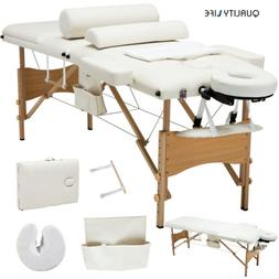 3 Fold Portable Facial SPA Bed Massage Table Sheet+2 Bolster