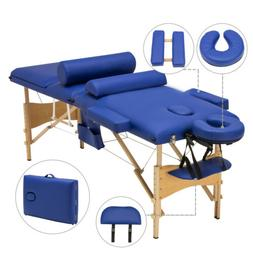 "84""L 3 Fold Portable Facial SPA Bed Massage Table Sheet+2 Bo"
