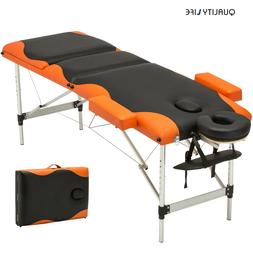 3 Fold Portable Massage Table Aluminum Facial SPA Bed Tattoo