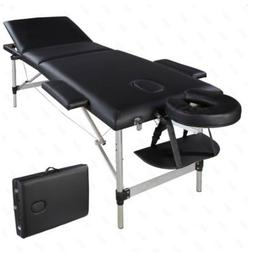 3-Fold Portable Massage Table Chair Bed Spa Facial w/Free Ca