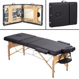 BestMassage 3 Fold Portable Massage Table w/Free Carry Case