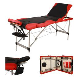 "Aluminum 84""Portable Massage Table Comfort Facial SPA Bed Ta"