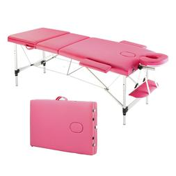 3 Sections Folding Portable Aluminum Foot Beauty Massage Tab