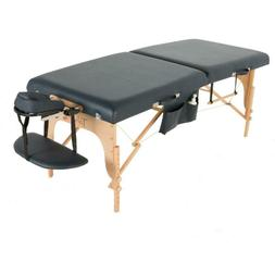 """EXERPEUTIC 30"""" Tahoe Blue Sapphire Massage Table with Essent"""
