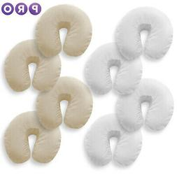 4 Pk Massage Table Face Cradle Head Rest Covers - Cotton Fla