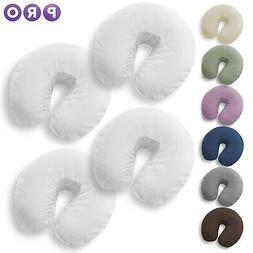 4 Pk Massage Table Face Cradle Head Rest Covers - Microfiber