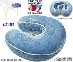 50 MASSAGE TABLE DISPOSABLE FACE CRADLE COVERS HEADREST COVE