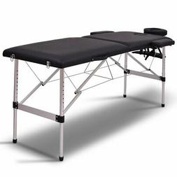 "Giantex 72""L 2 Section Portable Massage Table Aluminum Facia"