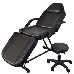 "73"" Foldable Tattoo Massage Table Chairs Spa Salon Facial Be"