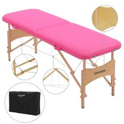 "73""L Adjustable Height Folding Portable Massage Table Facial"