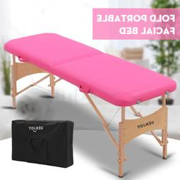 "73""L Pro Fold Portable Massage Table Facial SPA Bed Tattoo w"