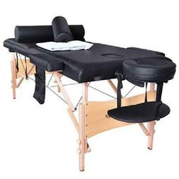 "75"" L Massage Table Portable Facial Spa Bed W/Sheet+Cradle C"