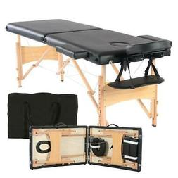 "82"" Portable Massage Table Bed Spa Facial Tattoo w/Free Carr"