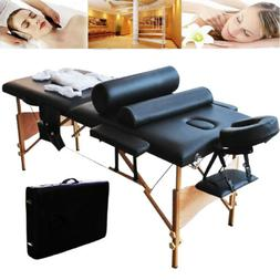 "84"" 2 Fold Massage Table Salon Facial SPA Beauty Bed Pillows"