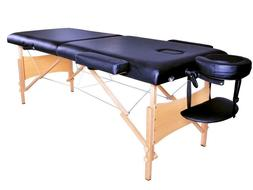 """84"""" Black Portable Massage Table w/ Free Carry Case"""
