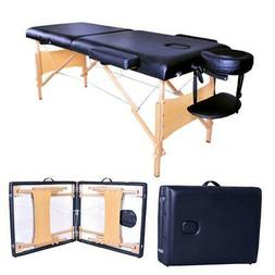 "84"" Fold Massage Table Chair 2 Pad Facial Tattoo SPA Carry C"