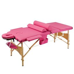 "84""L 3 Fold Portable Massage Table Tattoo Facial SPA Beauty"