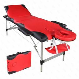 "84""L 3 Fold Portable Massage Table Facial SPA Bed Tattoo wit"