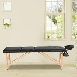 "BestMassage 84""L 3 Fold Portable Massage Table W/ Sheet Bols"