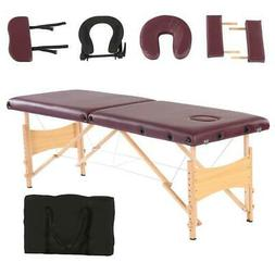 "84""L Fold Portable Massage Table Facial SPA Beauty Bed Tatto"