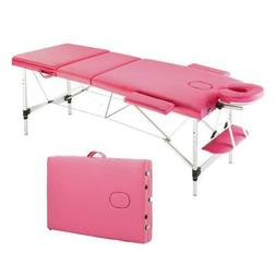 """84""""L Fold Portable Massage Table Facial SPA Bed Tattoo with"""