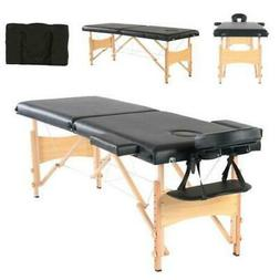 "84""L Fold Portable Massage Table Facial SPA Bed Tattoo with"