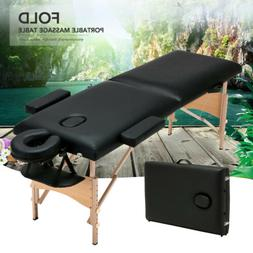 "84""L Foldable Portable Massage Table Facial SPA Beauty Bed T"