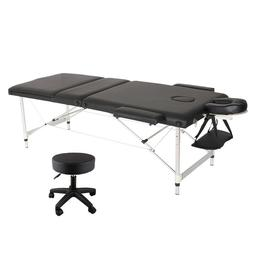 84''L Massage Table 3 Fold Adjustable Portable Aluminium Bea