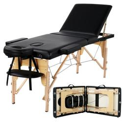 "84"" L Massage Table 3 Fold Adjustable Portable Facial Spa Sa"