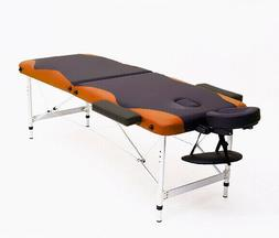 "84""L Massage Table 3 Fold Portable Facial SPA Bed Tattoo Fre"
