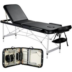 84'' 3 Fold Aluminium Massage Table Adjustable Portable SPA