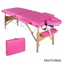 "84""L Folding Massage Table Portable Facial SPA Beauty Bed Ta"